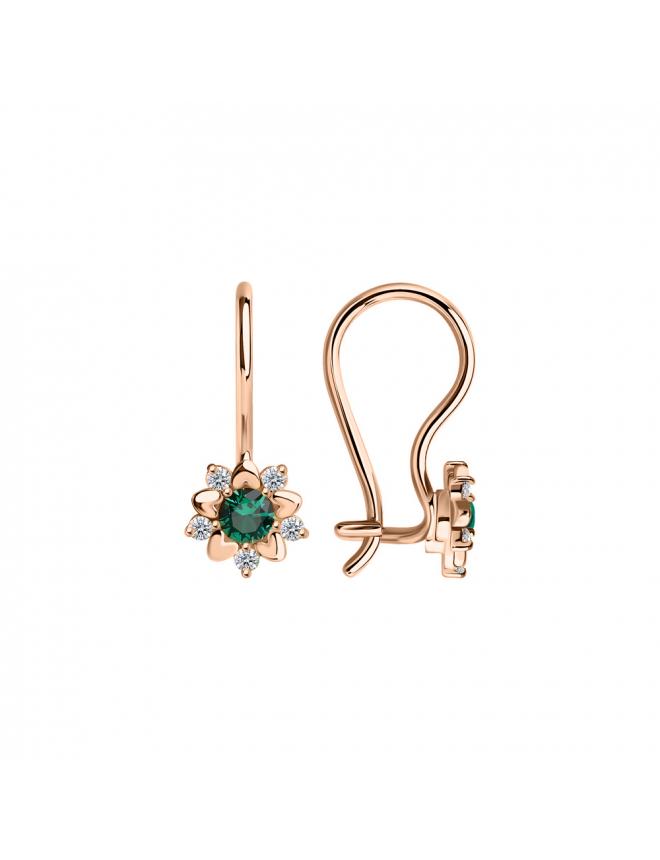 Ohrhänger mit Granat und zirkonia