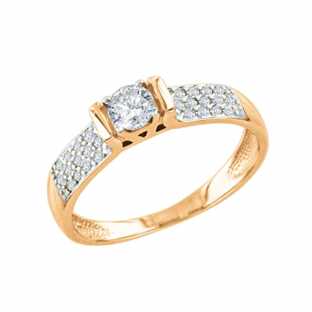 Мужское кольцо с ониксом, фианитом