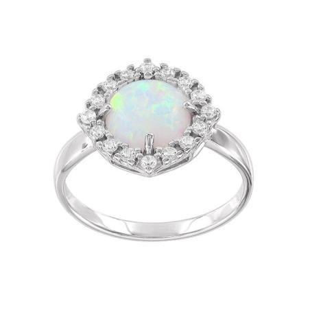 Изысканное кольцо из белого золота с бриллиантами