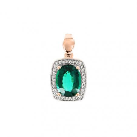 Шикарное кольцо с изумрудом и бриллиантами