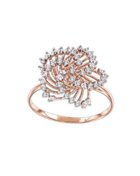 Женское кольцо с фианитами