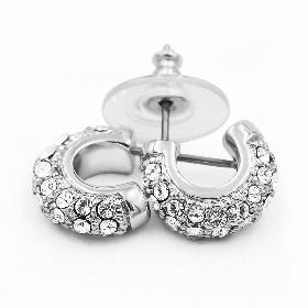 Ohrringe mit Swarovski Kristallen mit Rhodiumbeschichtung LC