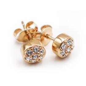 Ohrringe mit Swarovski Kristallen, Vergoldet mit 18 K LC
