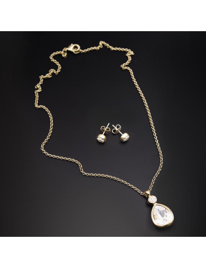 Ohrringe mit Swarovski Kristallen, Vergoldet 18K LC