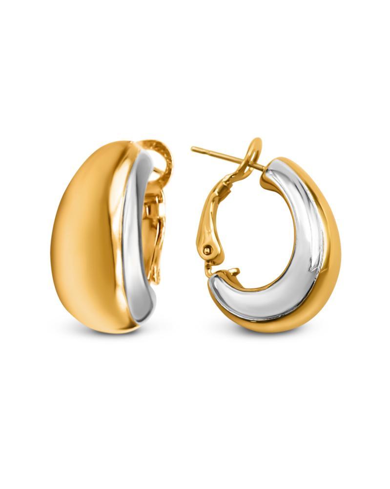 Ohrringe mit Swarovski Kristallen Vergoldet mit 18K LC