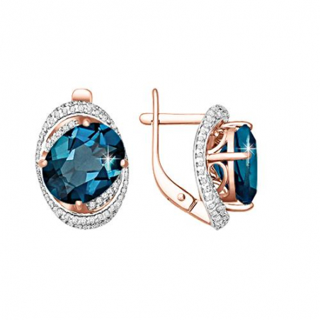 Изящное кольцо с аметистом и фианитами