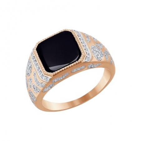 Восхитительное дамское кольцо с топазом и фианитами