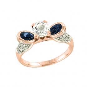 Подвеска  крест с бриллиантом