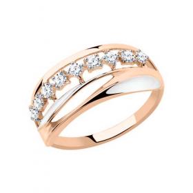 Кольцо корона с фианитами