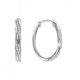 Кольцо с зеленым и белыми фианитами