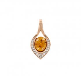 Серьги-кольца с кристаллами Swarovski и позолотой 18К LC