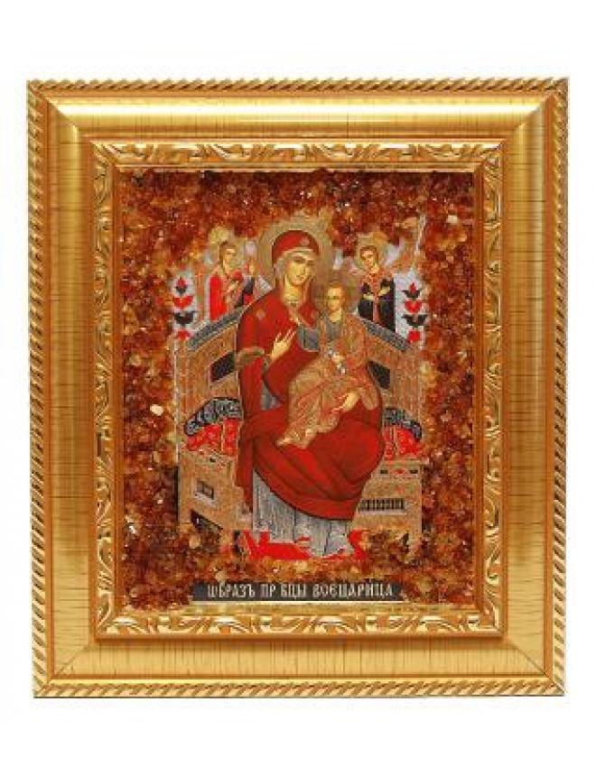 Крест из белого и красного золота с фианитами
